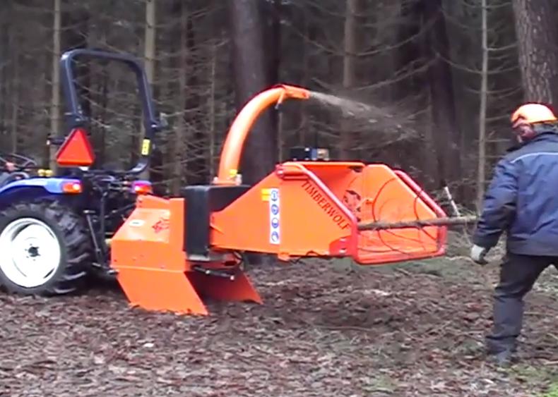 Timberwolf TW PTO 150H Wood Chipper - Video still